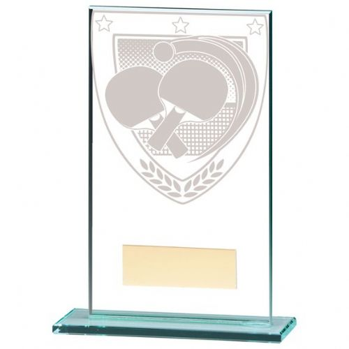 Millennium Table Tennis Jade Glass Award 140mm